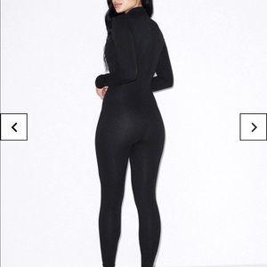 American apparel black turtleneck catsuit NWOT